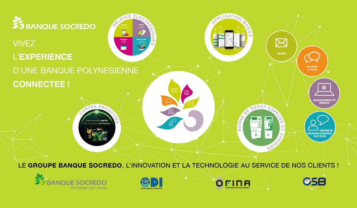 Partenaire du Digital Festival Tahiti - Tech4Islands : le groupe SOCREDO