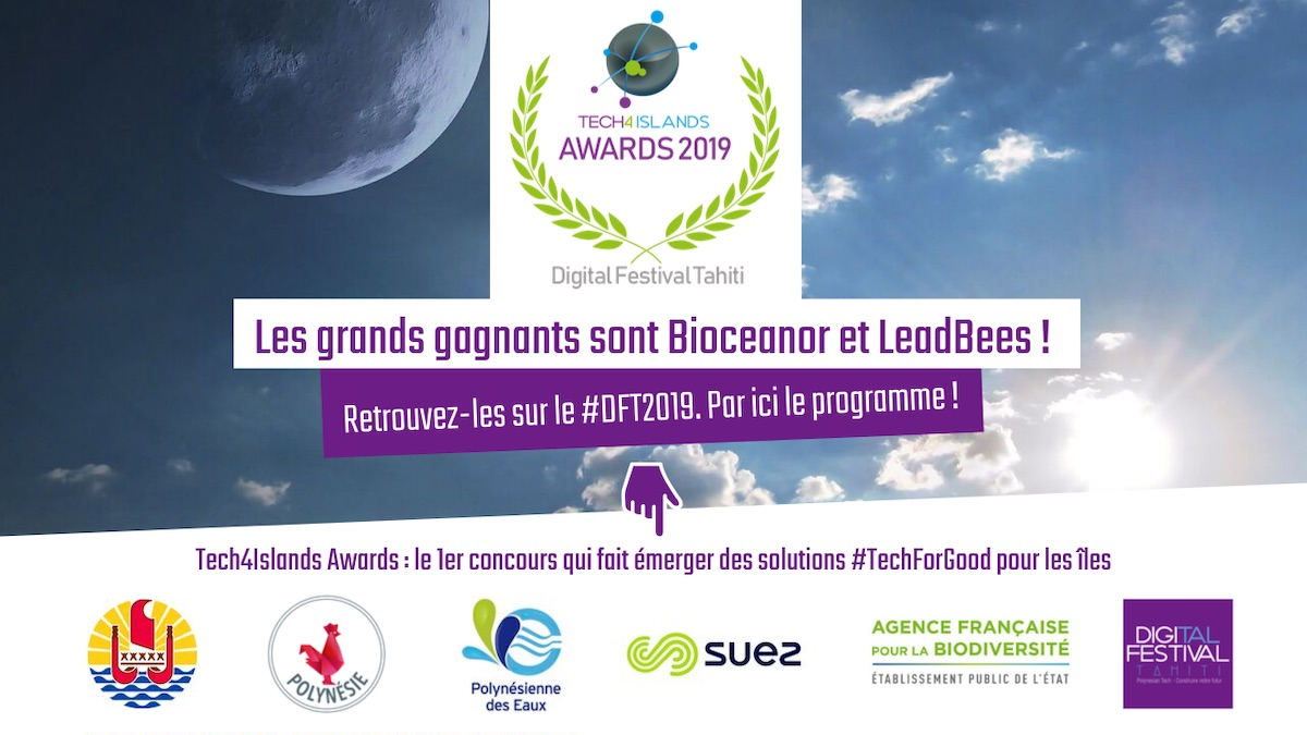 Bioceanor et la startup polynésienne LeadBees, lauréats du concours international Tech4Islands Awards organisé par le Digital Festival Tahiti